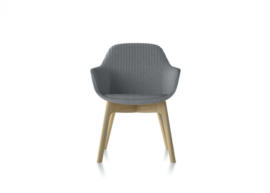 Friant Furniture Soft Seating Jest Guest Chair Render - Gray