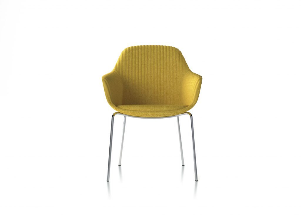 Friant Furniture Soft Seating Jest Table Chair Render - Canary