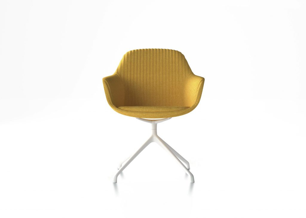 Friant Furniture Soft Seating Jest Y-Base Chair Render - Canary