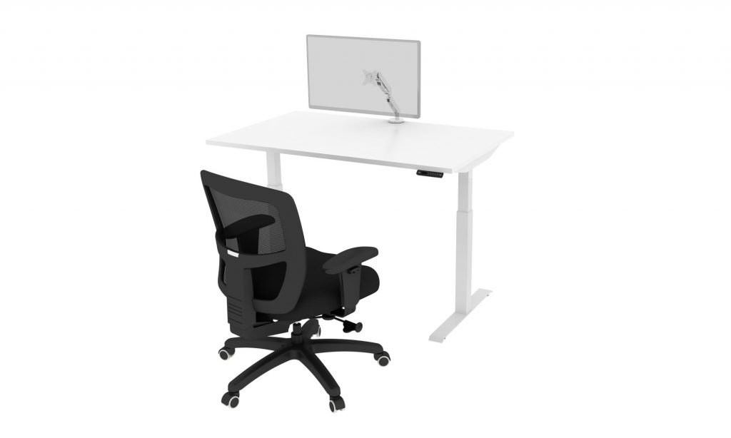 Friant Home Office Available - Sit Stand Desk_Chair_Monitor Arm - Cluster D