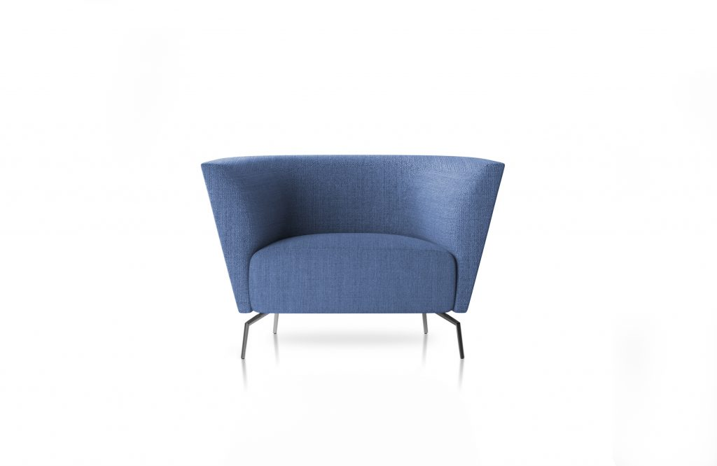 Friant Furniture Soft Seating Jot Render - Highback Single Blue