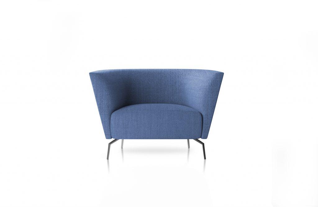 Friant Furniture Soft Seating Jot Render - Highback Single Blue