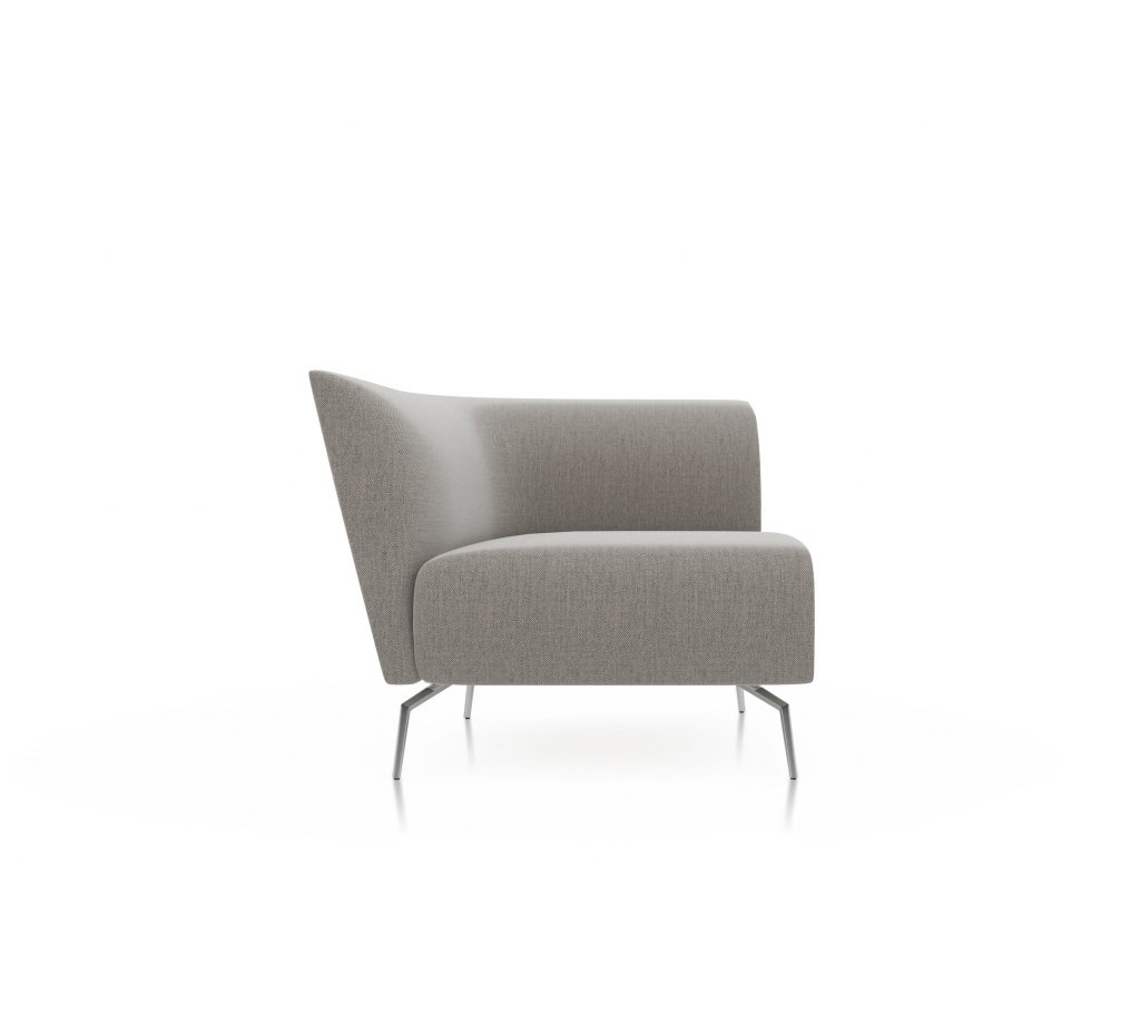 Friant Furniture Soft Seating Jot Render - Single Left Sectional
