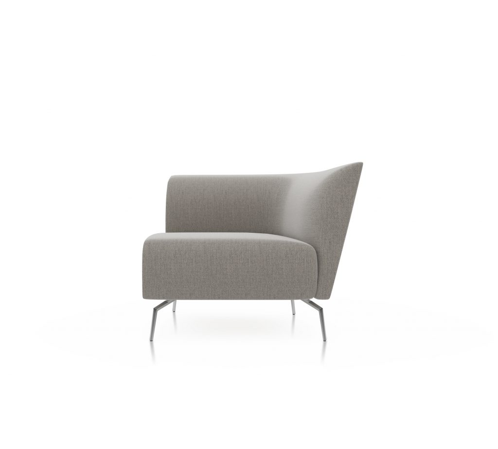 Friant Furniture Soft Seating Jot Render - Single Right Sectional