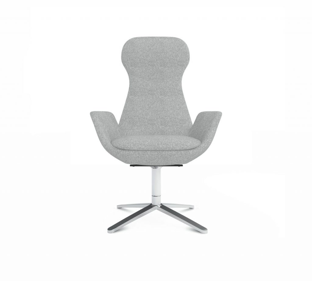 Friant Soft Seating Nik Lounge Chair Render